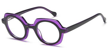 Black/Purple Capri M4053 Eyeglasses.