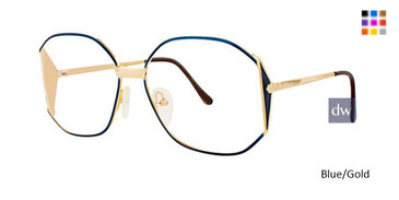 Blue/Gold Elan 151 Eyeglasses