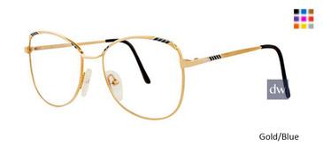 Gold/Blue Elan 153 Eyeglasses