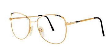 Gold/Blue Elan 153 Eyeglasses.