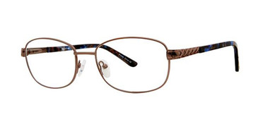 Brown Elan 3416 Eyeglasses.
