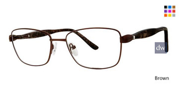 Brown Elan 3418 Eyeglasses