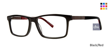 Black/Red Elan 3718 Eyeglasses
