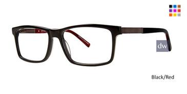 Black/Red Elan 3718 Eyeglasses