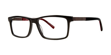 Black/Red Elan 3718 Eyeglasses.