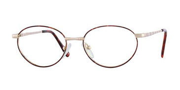 Amber/Dark Brown Elan 9154 Eyeglasses.