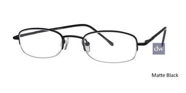 Matte Black Elan 9221 Eyeglasses - Teenager