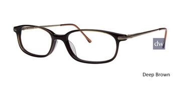 Deep Brown Elan 9225 Eyeglasses
