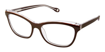 Brown Crystal Fysh 3592 Eyeglasses.