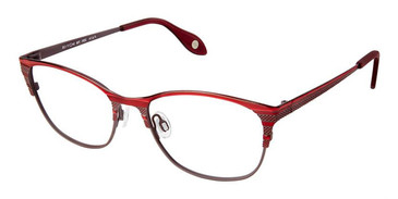 Burgundy Grey Fysh 3591 Eyeglasses.
