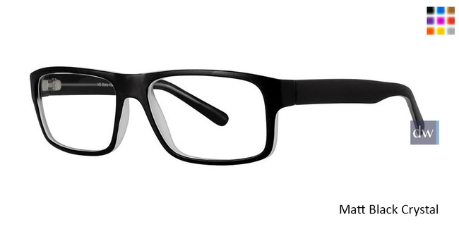 Matt Black Crystal Vivid Soho 1040 Eyeglasses