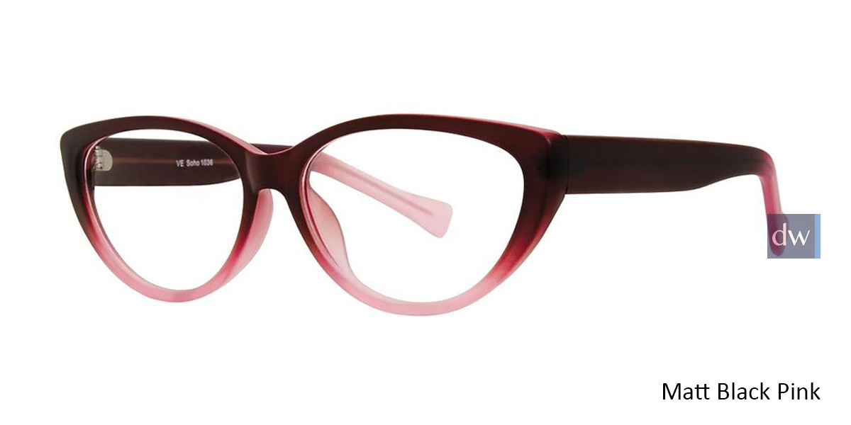 Matt Black Pink Vivid Soho 1036 Eyeglasses