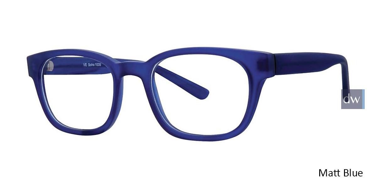Matt Blue Vivid Soho 1035 Eyeglasses