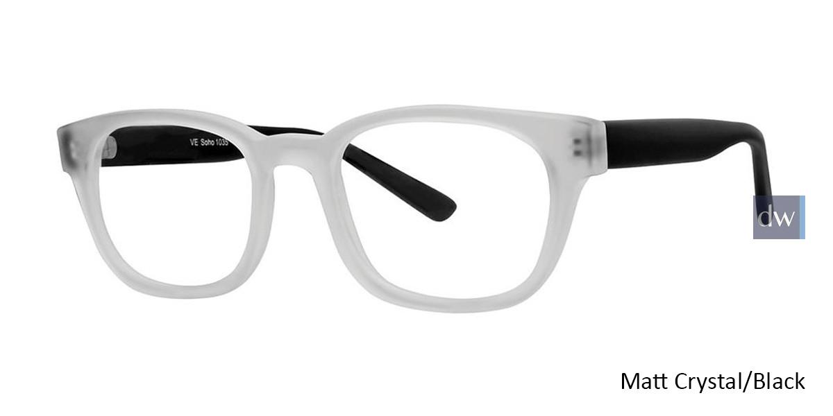Matt Crystal/Black Vivid Soho 1035 Eyeglasses