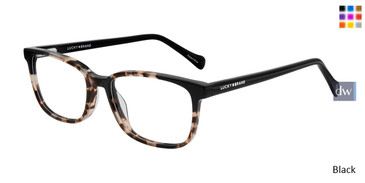 Black Lucky Kid D716 Eyeglasses - Teenager