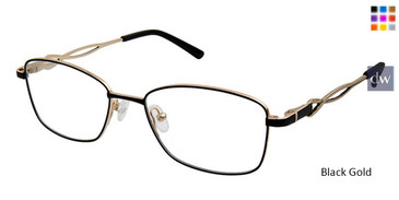 Black Gold Superflex Titan SF-1098T Eyeglasses.