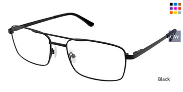 Black Superflex Titan SF-1097T Eyeglasses.