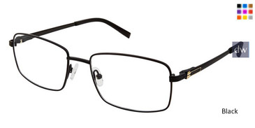 Black Superflex Titan SF-1093T Eyeglasses.