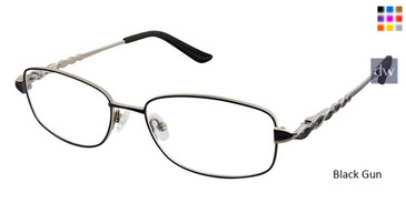 Black Gun Superflex Titan SF-1090T Eyeglasses.