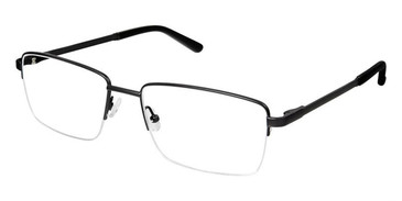 Black Superflex Titan SF-1088T Eyeglasses.