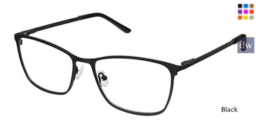 Black Superflex Titan SF-1087T Eyeglasses.