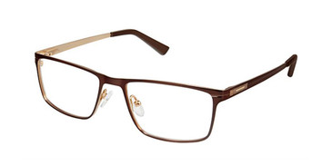 Brown Gold Superflex Titan SF-1085T Eyeglasses.