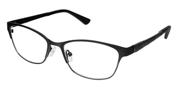 Black Superflex Titan SF-1084T Eyeglasses.