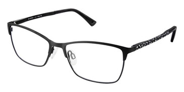 Black White Superflex Titan SF-1081T Eyeglasses.