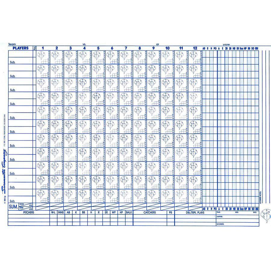 Scoremaster Baseball Softball Scorebook