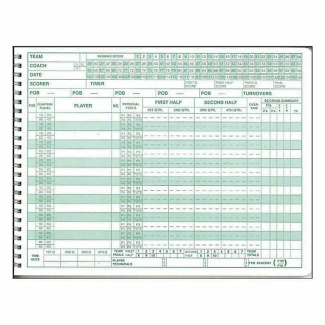 Mark V Basketball Scorebook