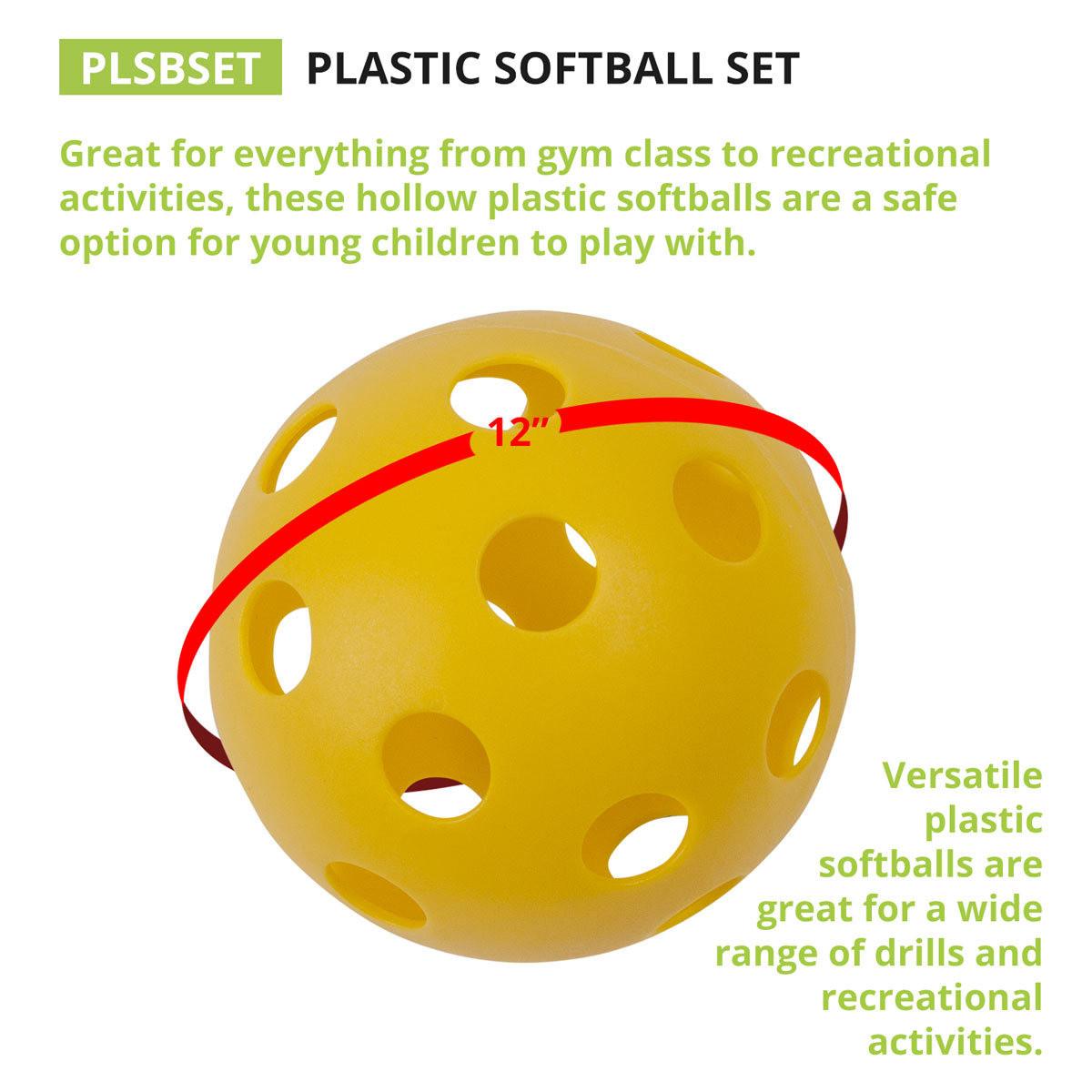 Champion Sports Plastic Softball Set PLSBSET