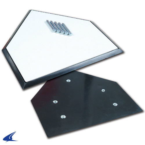 Champro Sports Official Baseball Home Plate With Spikes