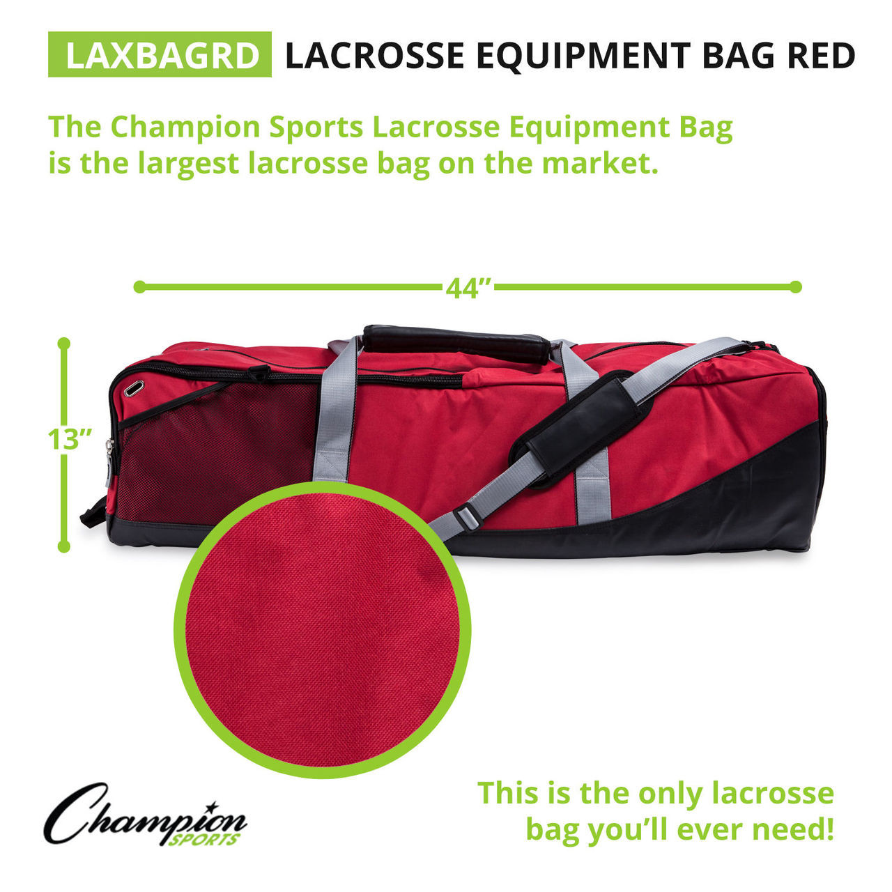 Champion Sports Lacrosse Equipment Bag (LAXBAG)