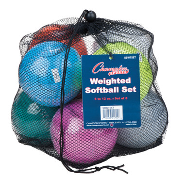 Champion Sports Weighted Training Softball Set