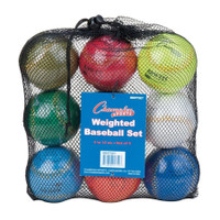 Champion Sports Weighted Training Baseballs Set