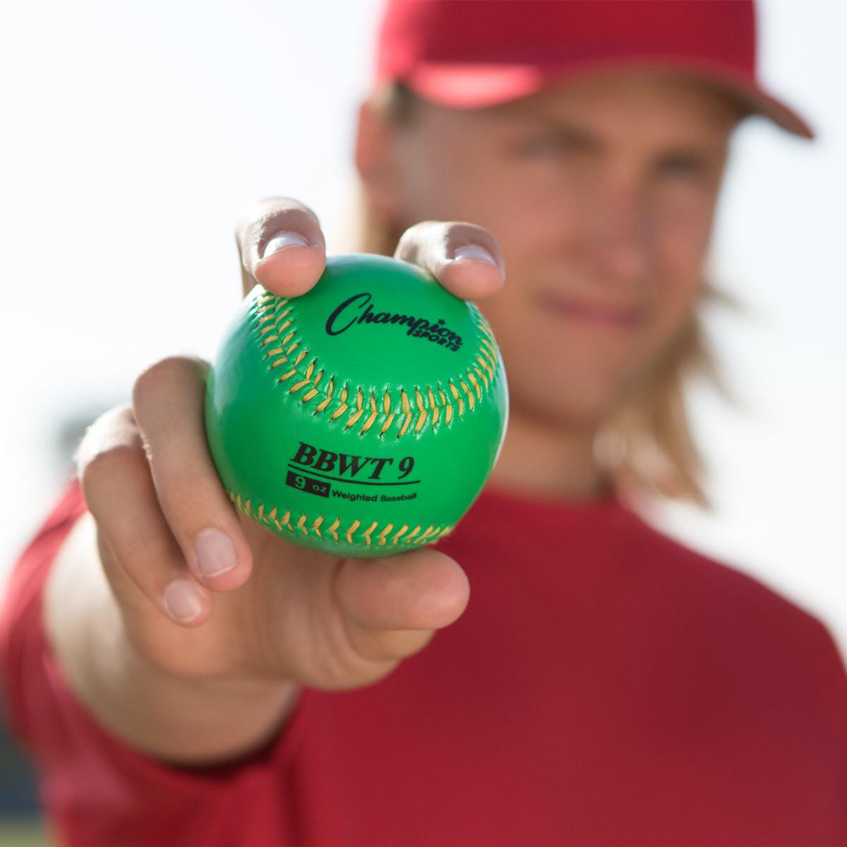 Champion Sports Weighted Training Baseballs Set (BBWTSET)