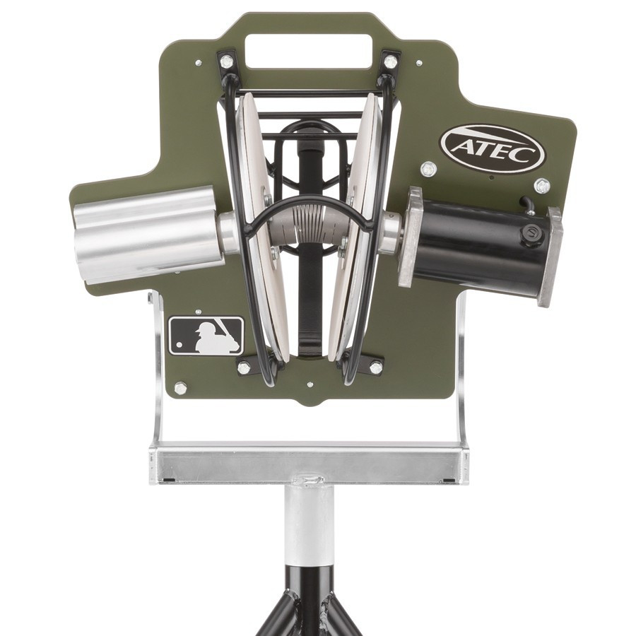 Atec R2 Training Pitching Machine on CaddyPod