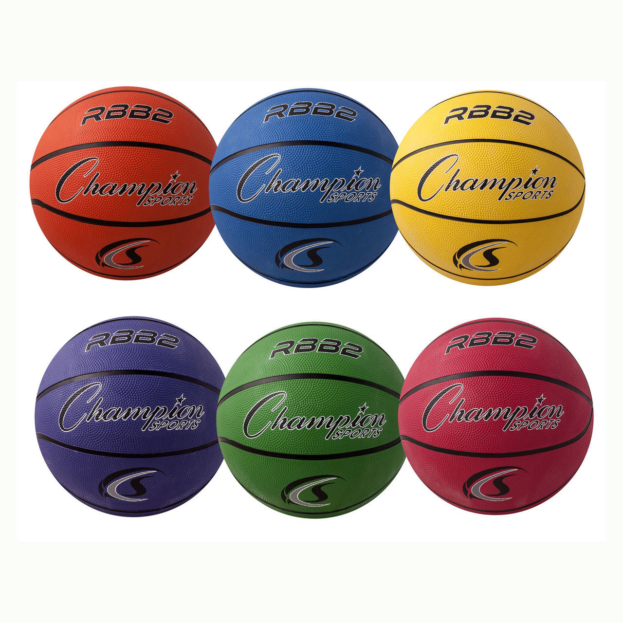 Champion Sports Rubber Basketball Sets RBB2