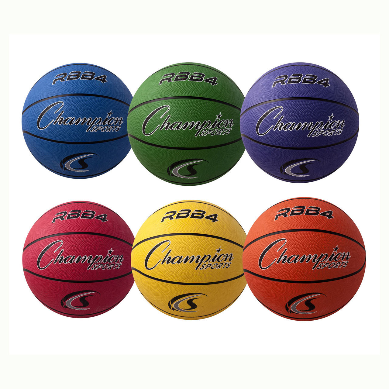 Champion Sports Rubber Basketball Sets RBB4