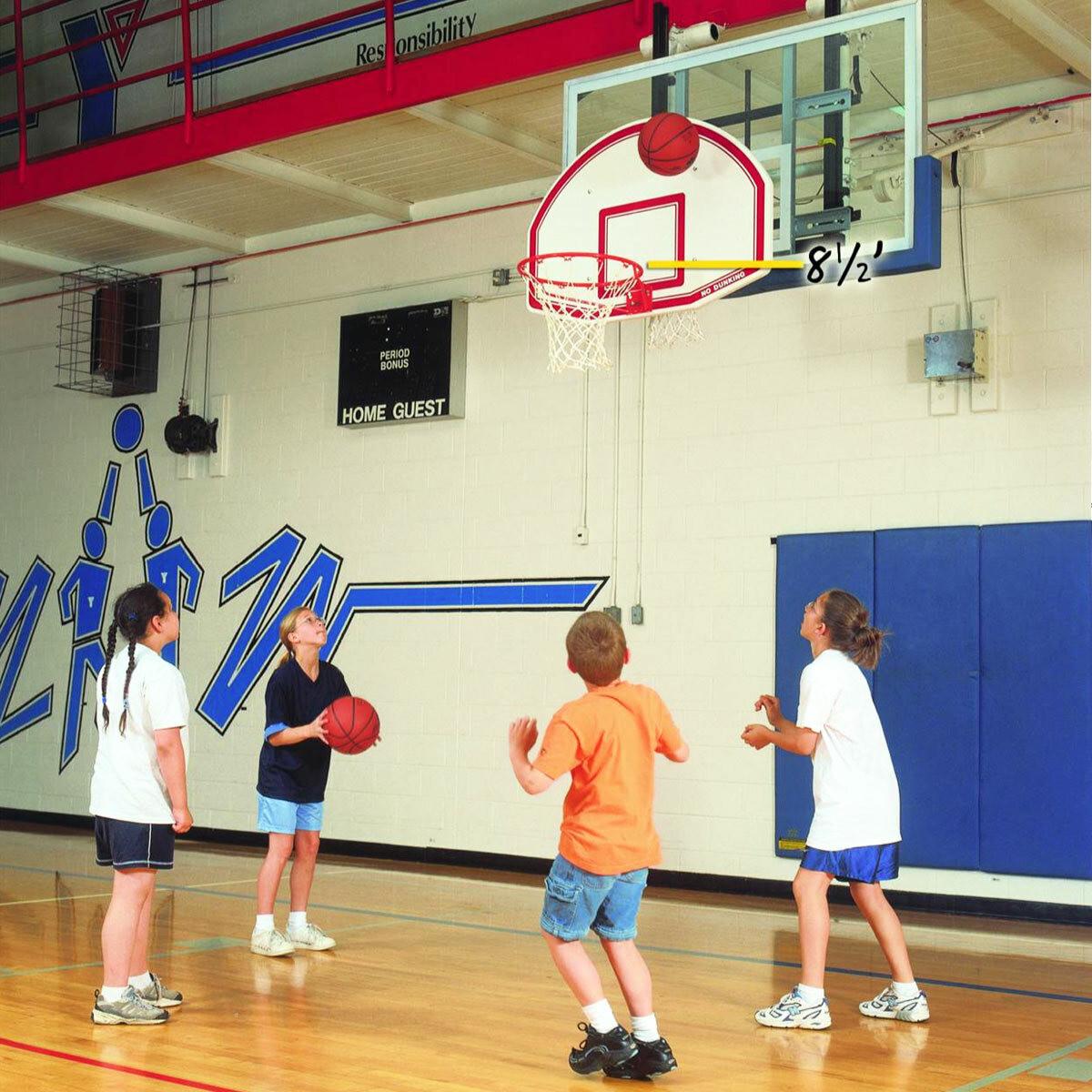 Bison 6-N-1 Adjustable Youth Basketball Goal