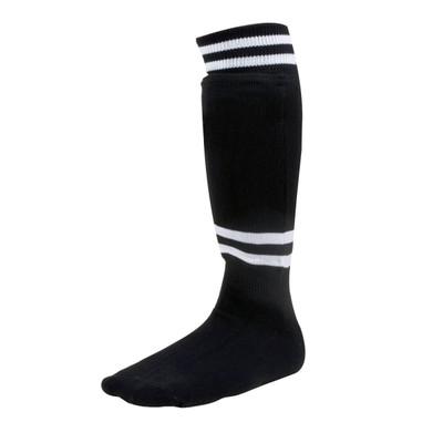 Champion Sports Sock-Style Shin Guards Black