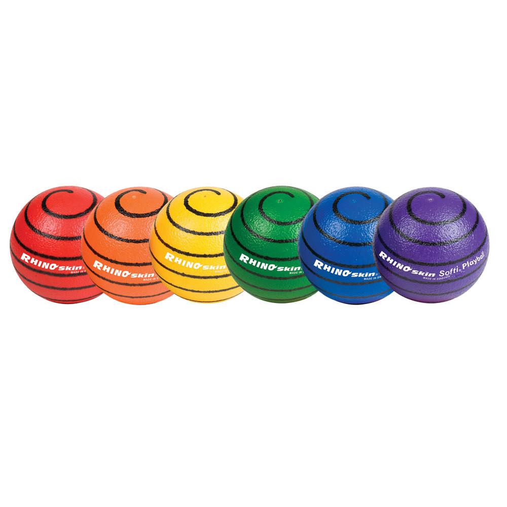 Champion Sports Rhino Skin Swirl Rainbow Dodgeball Set