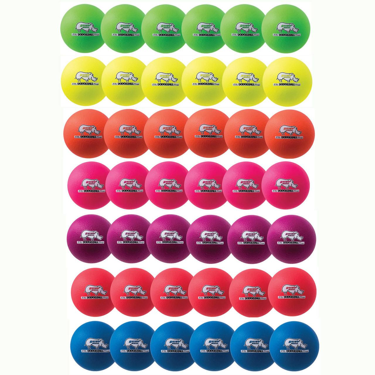Neon Rhino Skin Dodgeball Sets