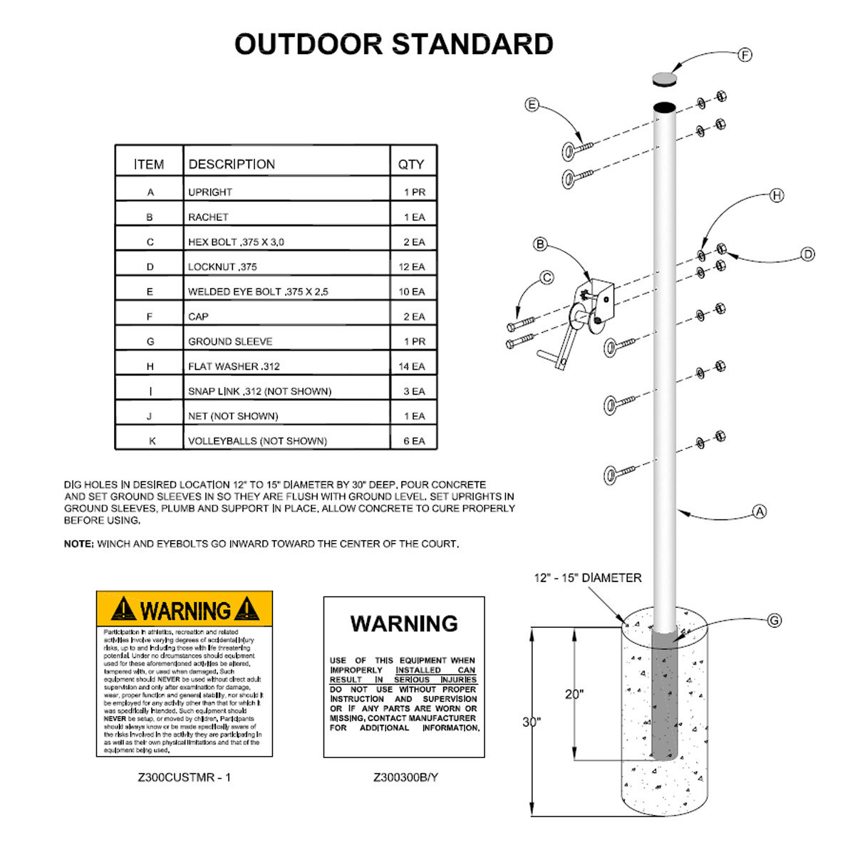 Semi Permanent Outdoor Game Standards