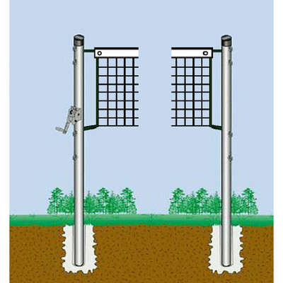 Semi Permanent Outdoor Game System