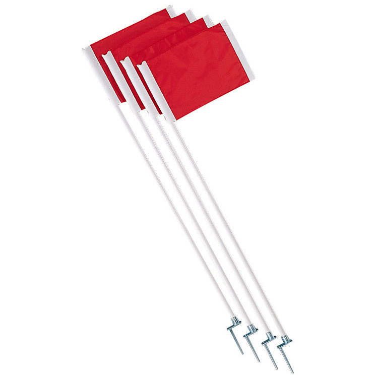 Champion Sports Soccer Corner Flag Set with Steel Pegs