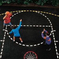 Basketball Court Stencil