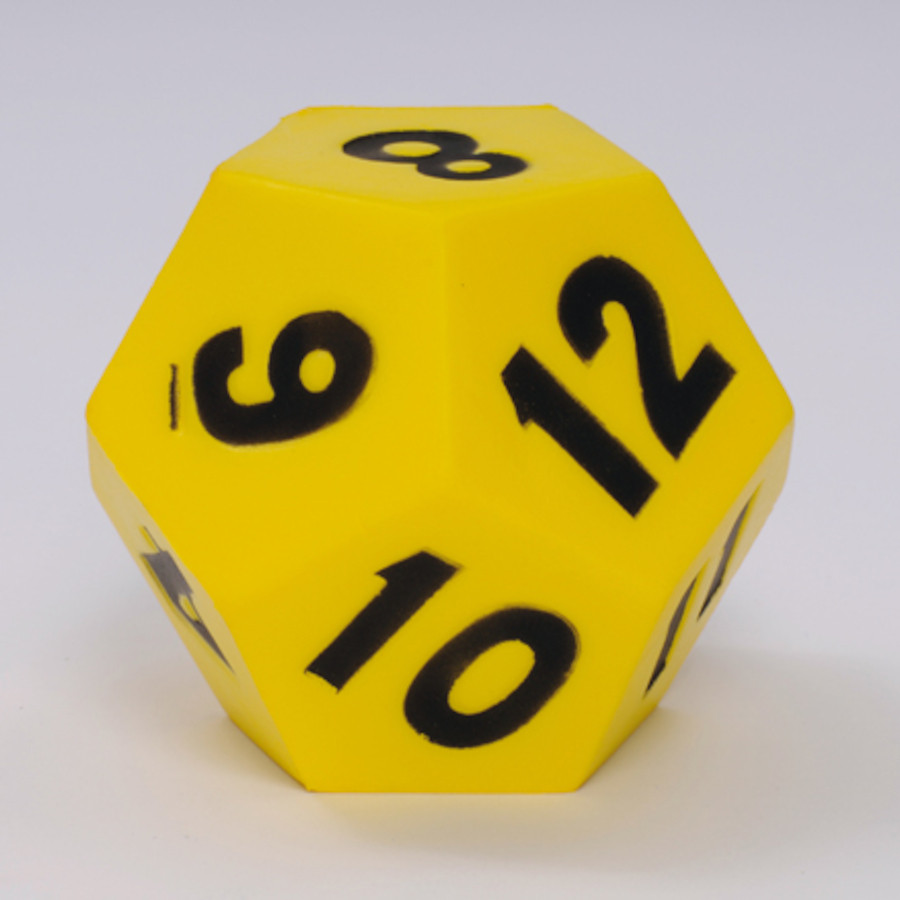 12 Sided Numbered Foam Dice
