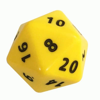 20 Sided Numbered Foam Dice