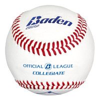 Baden Official League Collegiate Flat Seam Baseballs - Dozen